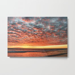 Parabolic Sunset Metal Print