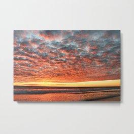 Parabolic Sunset Metal Print
