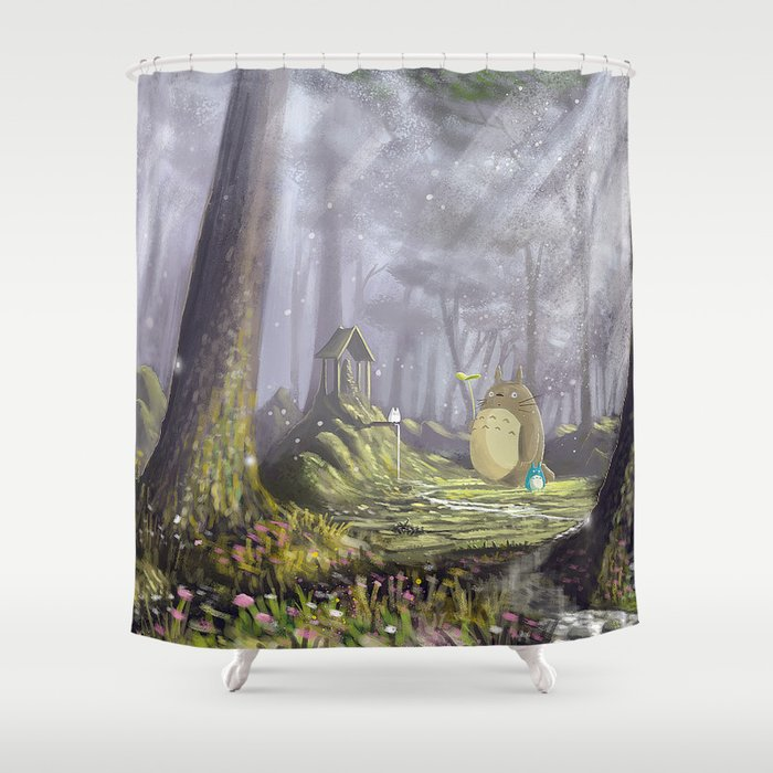 Totoros Forest Shower Curtain By Syntetyc