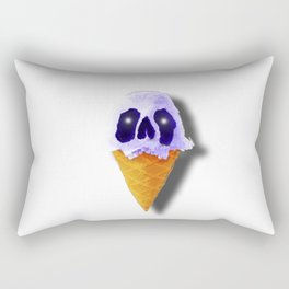 Skull Blue Ice Cream Rectangular Pillow