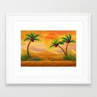 oasis Framed Art Prints featuring Oasis by Tatyana Adzhaliyska