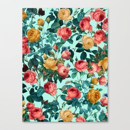 Spring-Summer Botanical Pattern II Canvas Print