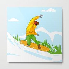 Snowboarder II Metal Print