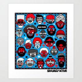 Sax Faces Art Print
