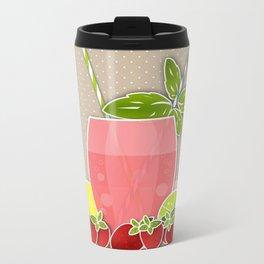 Retro design. Fresh drink Metal Travel Mug