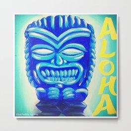 Aloha Tiki Metal Print
