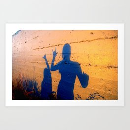 lanikai shaka shadow Art Print