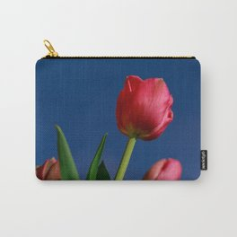 Red Tulips In The Blue Sky Carry-All Pouch