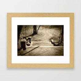 pathways. Framed Art Print