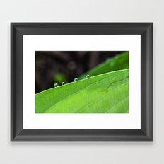 drops on the edge Framed Art Print
