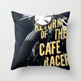 Return of the cafe racer Throw Pillow