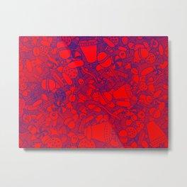 Sugar Red and Blue Metal Print