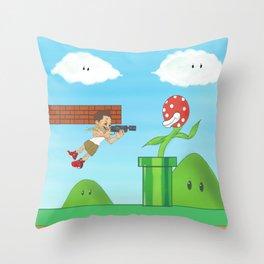 call of mario sniper mike  Throw Pillow
