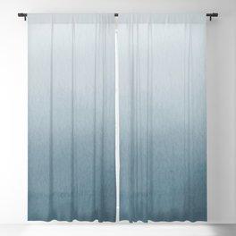 Behr Blueprint Blue S470-5 Abstract Watercolor Ombre Blend - Gradient Blackout Curtain