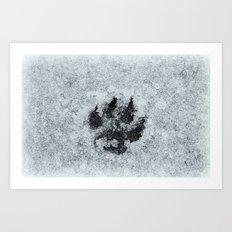 Printed In Snow Art Print