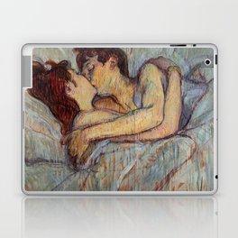 Henri De Toulouse Lautrec In Bed The Kiss Painting Laptop & iPad Skin