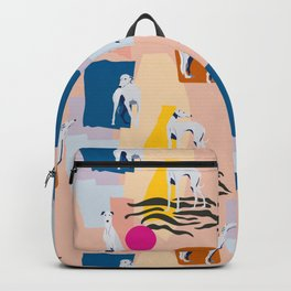 Greyhound colorful abstract pattern Backpack