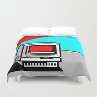 computer Duvet Covers featuring Computer I by noirlac