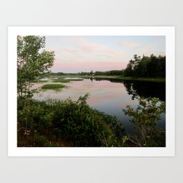 Pennamaquan River at Sunset Art Print