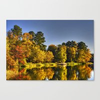 fishing Canvas Prints featuring Fishing by Kent Moody