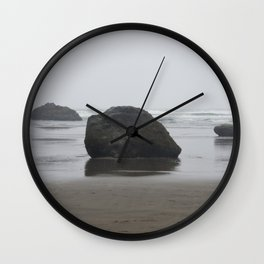 Hug Point Rock Formations Wall Clock