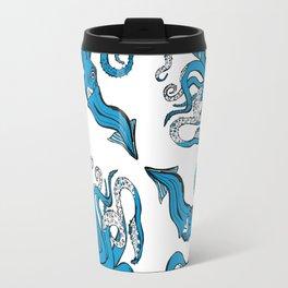 Sea-life Collection - Octopus - Ocean-Blue Travel Mug