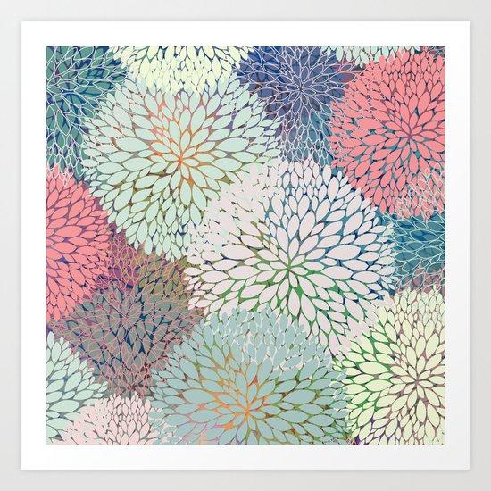 Abstract Floral Petals 3 Art Print