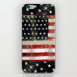 USA Flag ~ American Flag ~ Distressed Pattern ~ Ginkelmier Inspired iPhone Skin