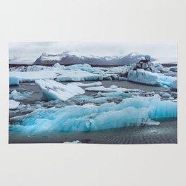 Jökulsárlón Glacier Lagoon, Iceland Rug