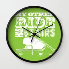 My Other Ride Has Stairs Wall Clock