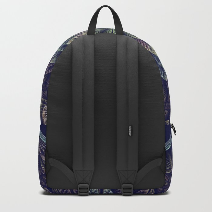 Fantasy flower bud opening up, fractal abstract Backpack