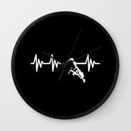 Climbing Heartbeat Wall Clock