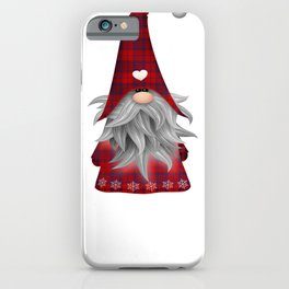 Christmas Gnome Red Plaid iPhone Case