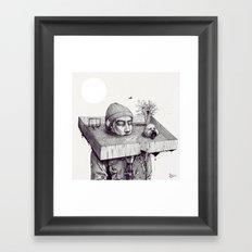 kid please draw me a house Framed Art Print