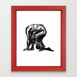 Boceto gestual 3 Framed Art Print