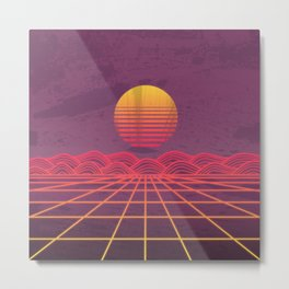 Neon Dream's  Metal Print