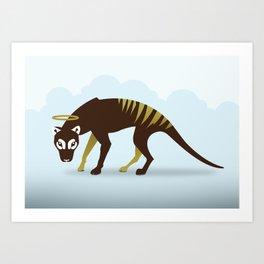 God's Zoo: Tasmanian Tiger Art Print
