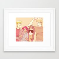 snk Framed Art Prints featuring SNK Buddies by rhymewithrachel