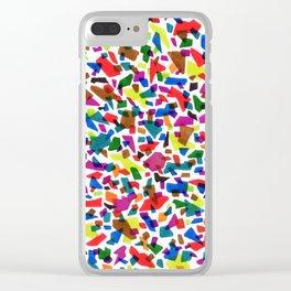 Terrazzo Confetti Clear iPhone Case