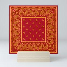 Red and Gold Bandana Mini Art Print