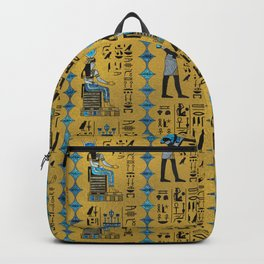 Egyptian  Ornament Symbols Pattern Backpack