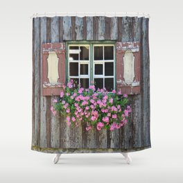 Good Morning Geraniums! Shower Curtain