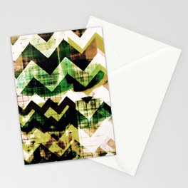 graphic design art, abstract geometric print, abstract wall art, chevron, chevron abstract Stationery Cards