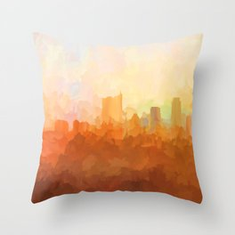 Austin, Texas Skyline - In the Clouds Throw Pillow