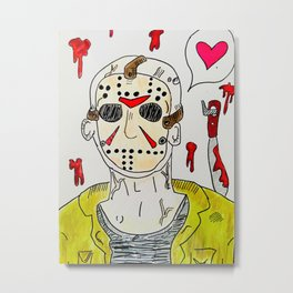 Jason the big Ol' Mush Metal Print