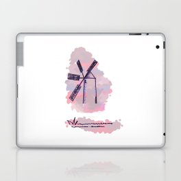 2 mill on pink and blue background . artwork Laptop & iPad Skin