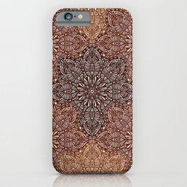 Copper Boho Mandela Pattern iPhone Case