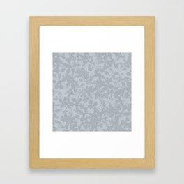 Broken but Flourishing Floral Pattern - Grey Framed Art Print