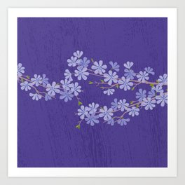 Purple Nigth Art Print
