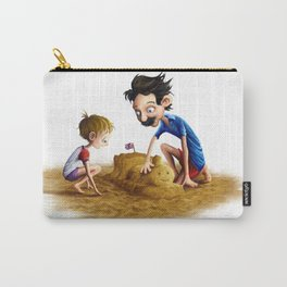 Father and Son at the Beach Carry-All Pouch